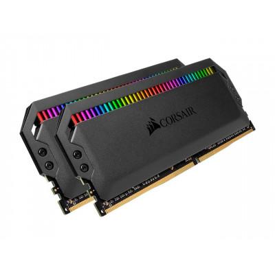 كورسير | بطاقة ذاكرة| Dominator Platinum RGB 16GB (2 x 8GB) 288-Pin DDR4 4000 (PC4 32000) | CMT16GX4M2K4000C19