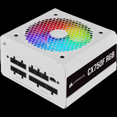 كورسير   مزود الطاقة   CX-F RGB Series CX750F RGB 80 PLUS Bronze Fully Modular ATX - أبيض   CP-9020227-UK