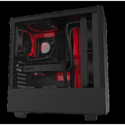 CA-H510B-BR | كيس | H510 Black and Red ATX  |  من ان زد اكس تي