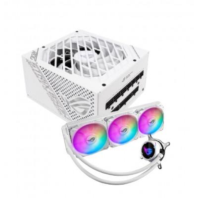 ASUS | ROG Strix 850W White PSU + ROG STRIX LC RGB 360MM CPU LIQUID COOLER - WHITE | 90YE00A4-B0NA00 + 90RC0072-M0UAY0