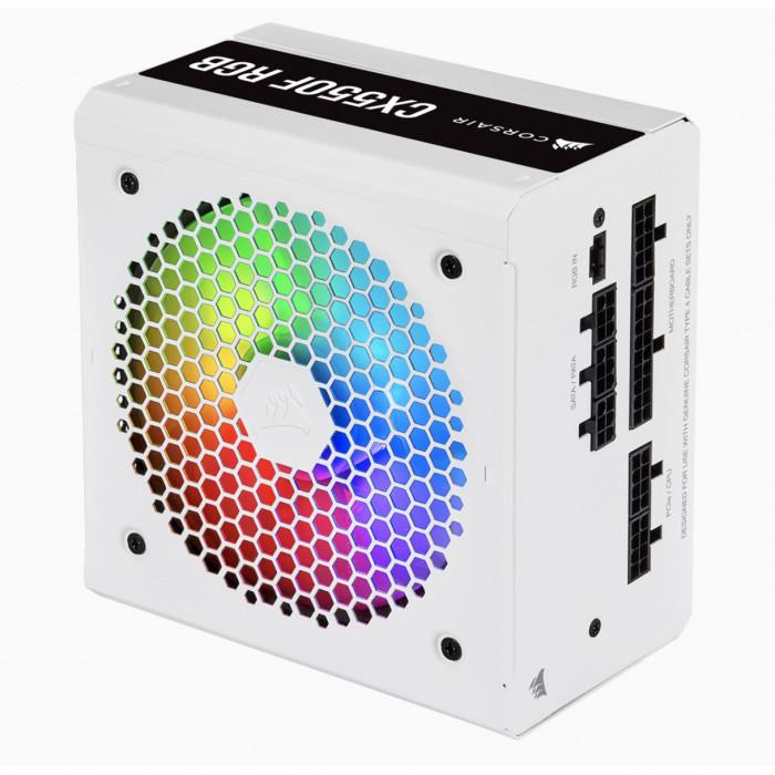 كورسير   مزود طاقة   CX Series™ CX550F RGB White — 550 Watt 80 Plus® Bronze Certified Fully Modular RGB    CP-9020225-UK