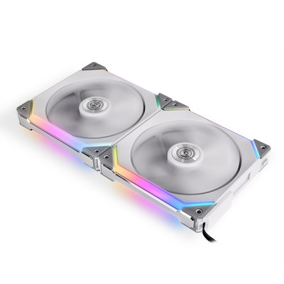 ليان لي | مروحة | UNI Fan SL140 Double Pack White with Controller (ARGB 140mm LEDSL| 140-2-White