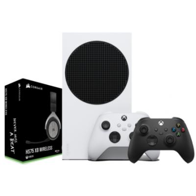 X BOX BUNDLE 2 | اكس بوكس اس 512 Gb + يد تحكم اكس بوكس اسود + HS75  اسود سماعة الألعاب كورسير