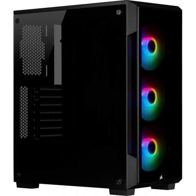 كورسير   صندوق كمبيوتر    iCUE 220T RGB Tempered Glass Mid-Tower Black   CC-9011190-WW