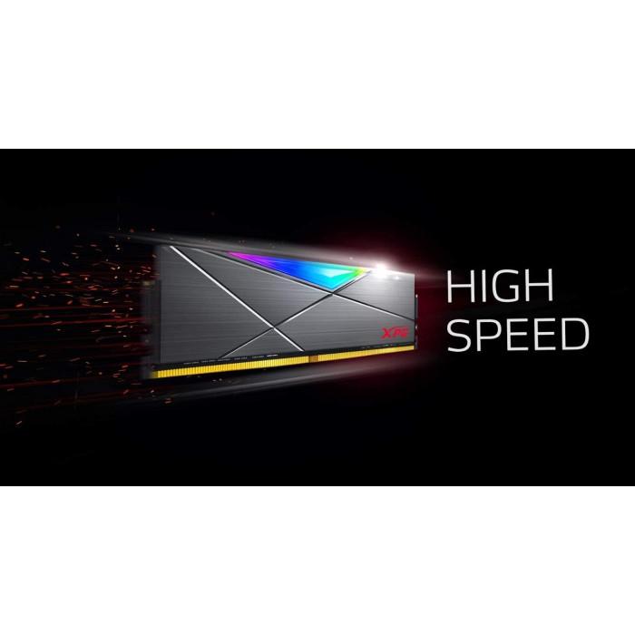 اداتا     ذاكرة    XPG SPECTRIX D50 8GB (2x4GB) DDR4 3200MHz RGB Memory Module   AX4U320016G16A-DT50