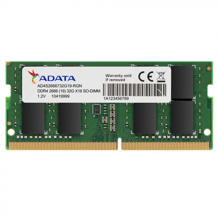 ADATA   ذاكرة    ذاكرة كمبيوتر محمول DDR4 2666 ميجاهرتز 4 جيجابايت   AD4S26664G19-SGN