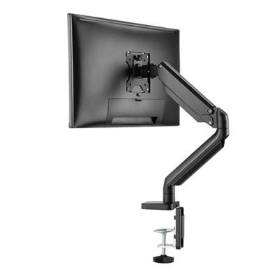 Twisted Minds |ذراع وحامل شاشة واحدة بزنبرك ميكانيكي نحيف من الألومنيوم - أسود  | LDT26-C012U
