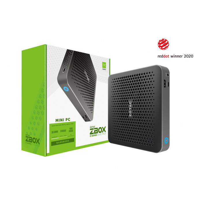 زوتاك ZBOX MI623, Barebone, Intel Core-i3-10110U,2X DDR4 SODIMM, M.2 SSD SLOT, DUAL GLAN, WIFI, BT, USBDRV, DP/HDMI, EU+UK PLUG