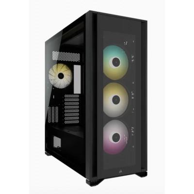 كورسير | صندوق الكمبيوتر | iCUE 7000X RGB Tempered Glass Full-Tower ATX PC Case - Black | CC-9011226-WW