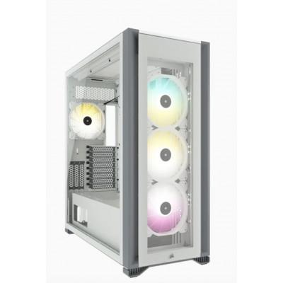 كورسير  | صندوق الكمبيوتر | iCUE 7000X RGB Tempered Glass Full-Tower ATX PC Case - ابيض | CC-9011227-WW