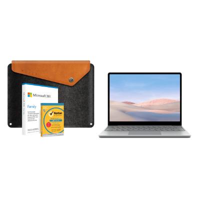 مايكروسوفت سيرفيس لاب توب جو، كور أي5, 4 جيجا، 128 جيجا، بلاتنيوم مع   مايكروسوفت 6GQ-01172 O365 Home،   Mac / Windows، الاشتراك الإنجليزي، نسخة الشرق الأوسط، ترخيص سنة و حافظة لجهاز  الكمبيوتر مجاناً