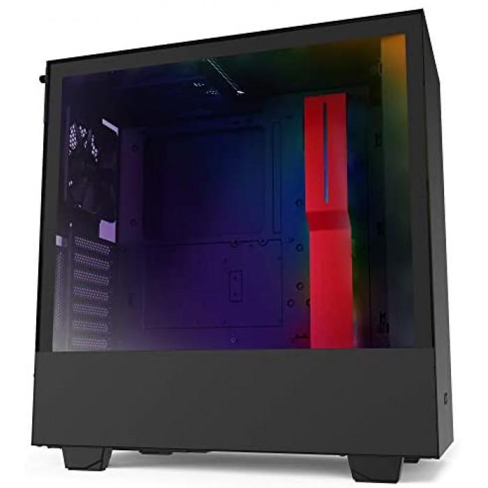 NZXT صندوق الكمبيوتر من  H510i  مع مجموعة ذاكرة من كورسير VENGEANCE® LPX 16GB (2 x 8GB) DDR4 DRAM 3200MHz C16 Memory Kit - احمر