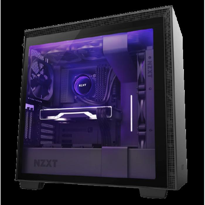 صندوق الكمبيوتر من NZXT   H710i Mid Tower باللون الأسود مع مبرد وحدة المعالجة المركزية من كورسير Liquid H150 RGB 360mm