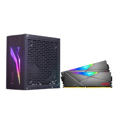 مجموعة 3  | مزود طاقة  من ايروكوول KCAS PLUS GOLD 750 watt RGB مع ذاكرة من اداتا المكتبية XPG Spectrix DDR4 3000 2x8GB