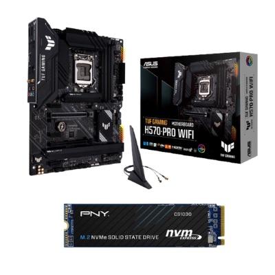 المجموعة 2 | محرك أقراص الحالة الصلبة PNY CS1030 M.2 2280500 جيجابايت PCI-Express 3.0 x4 مع اللوحة الأم ASUS TUF GAMING H570-PRO WIF