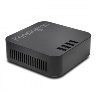 Kensington 48W 4-Port USB شاحن — اسود