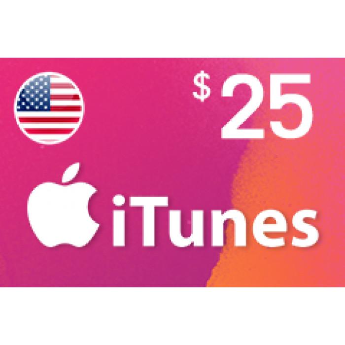 بطاقة آيتونز بقيمة 25$ متوافقة مع الستور الأمريكي (تسليم الكود عبر البريد الإلكتروني) السعر شامل لضريبة القيمة المضافة
