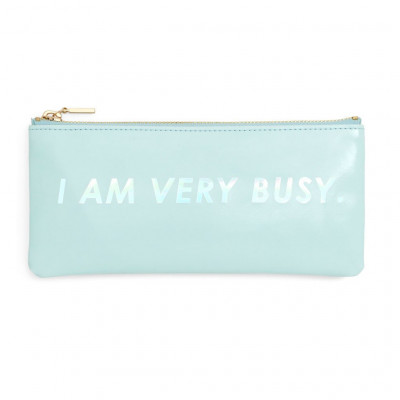 I am very busy (ice blue) محفظة الاقلام