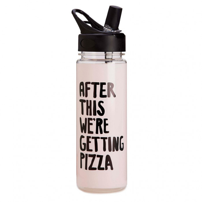 Water bottle - After This We're Getting Pizza (Pink)