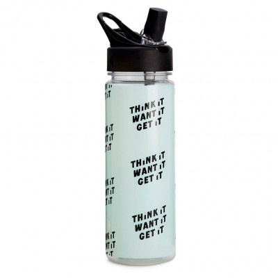 Water bottle - Think it, want it , get it (Green)