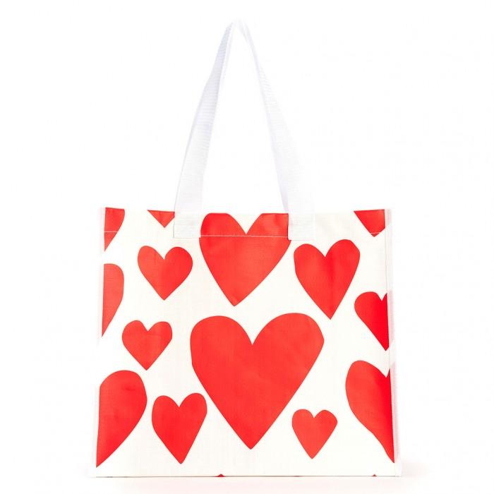 حقيبة التسوق إكستريم سوبركيوت بنقشات القلوب الحمراء