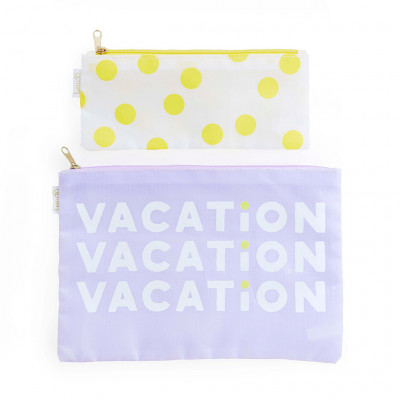 Duo Pouch Set - Vacation/Dots